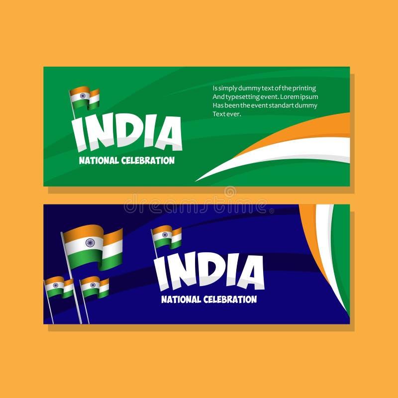 Van de de Vieringsaffiche van India de Nationale Illustratie van het het Malplaatjeontwerp Vector stock illustratie