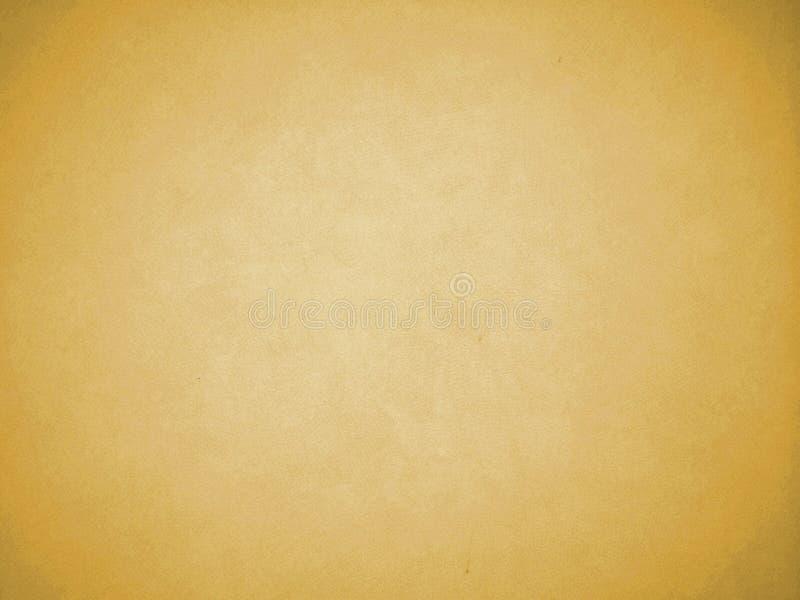 Van de vignet Lichtoranje Bruine Kleur Textuur Als achtergrond als Kader met Witte Schaduw in het Midden aan inputtekst, Uitsteke stock fotografie