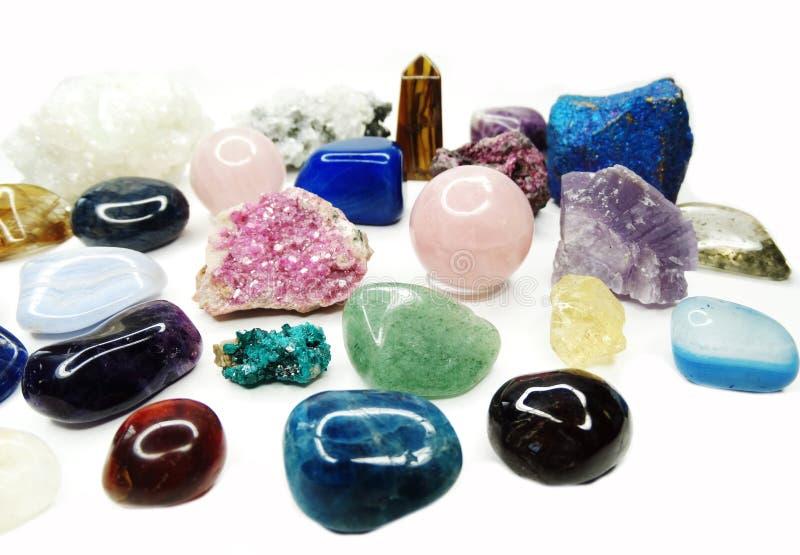 Van de violetkleurige het agaat geologische kristallen kwartsgranaat sodalite stock afbeeldingen