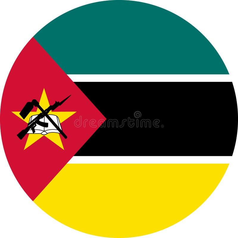 Van de Vlagafrika van Mozambique de illustratie vectoreps royalty-vrije illustratie