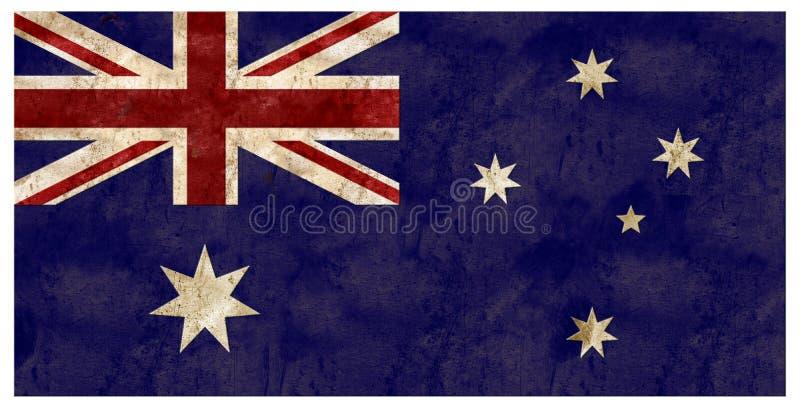 Van de Vlaggrunge van Australië in reliëf gemaakt het Metaal Australisch tin stock foto's