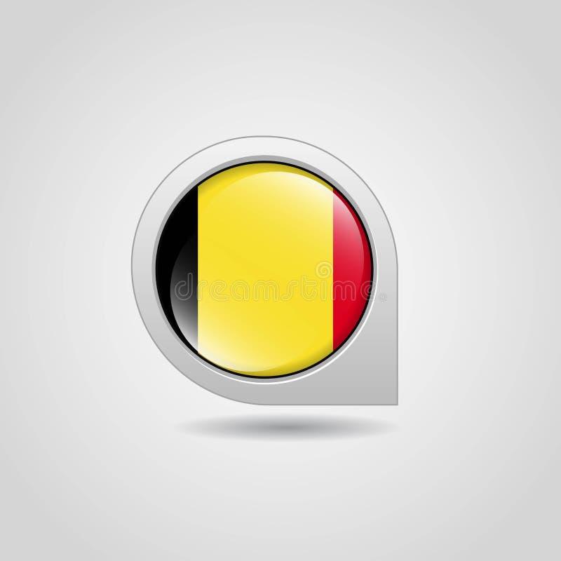 Van de de vlagkaart van België de vector van het de wijzerontwerp vector illustratie