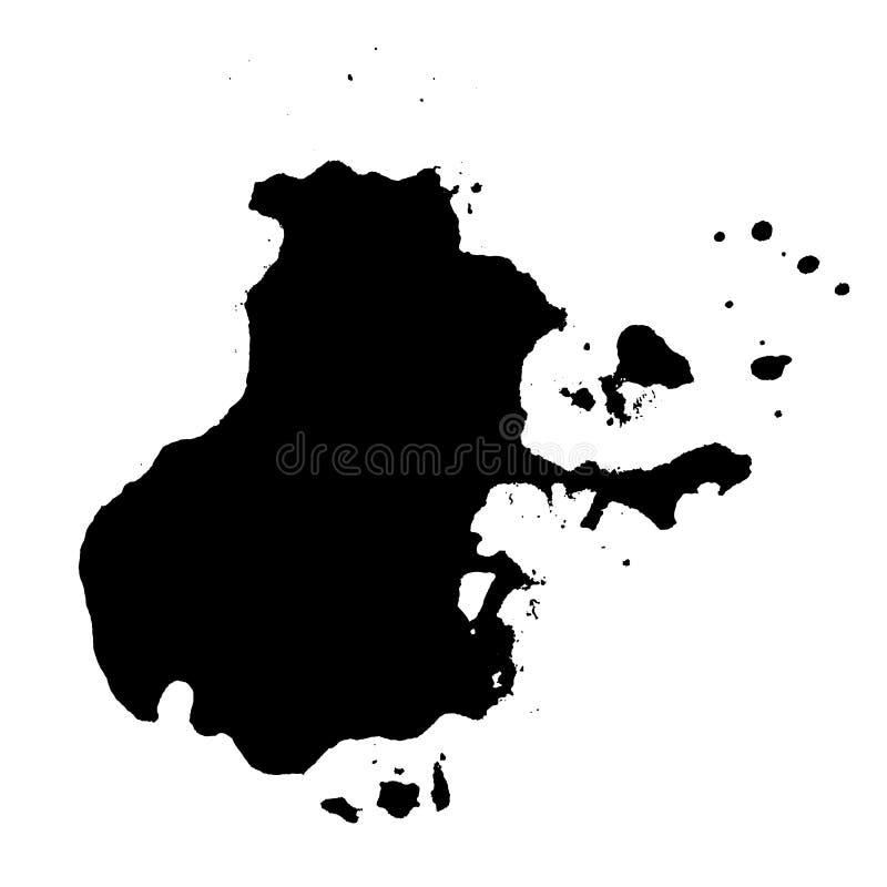 Van de de Vlektextuur van de Grungeinkt de Druk Vectorillustratie stock illustratie