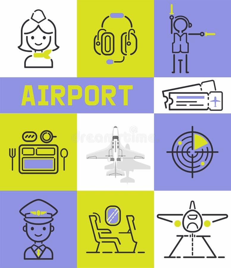 Van de de vliegtuigbemanningstewardess van het luchtvaart de vector naadloze patroon proefmensen die op het vliegtuig reizen die  vector illustratie