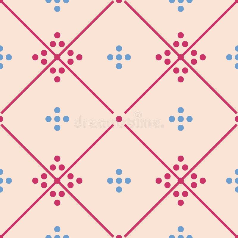 Van de vloertegels van de tegelpastelkleur het decoratieve vectorpatroon of naadloze achtergrond vector illustratie