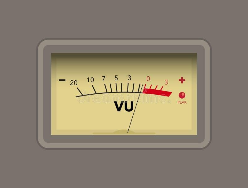 Van de volumeeenheid (VU) de meter royalty-vrije illustratie