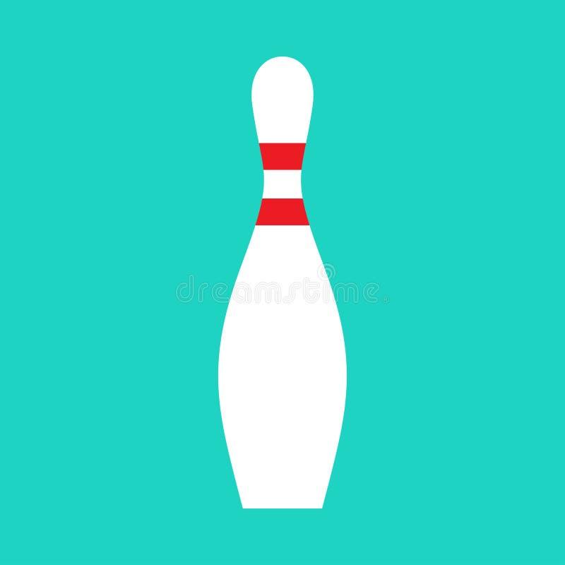 Van de de vrije tijdsactiviteit van de kegelenspeld van het de hobby recreatief vermaak het teken vectorpictogram Element van de  stock illustratie