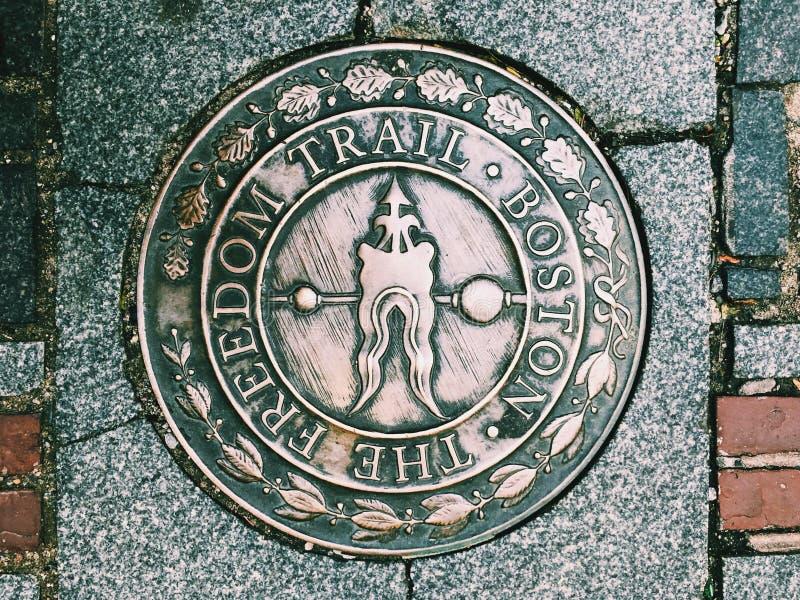 Van de de Vrijheidssleep van Boston het ronde Teken royalty-vrije stock foto's