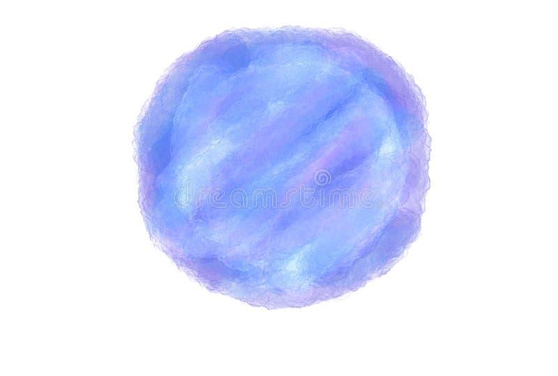 Van de de waterverf grunge cirkel van de zacht-kleuren isoleert de uitstekende pastelkleur abstracte het embleemachtergrond met g vector illustratie