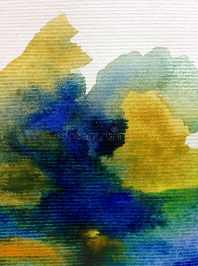 Van de waterverfkunst abstracte geweven natte was vage kleurstof als achtergrond vector illustratie