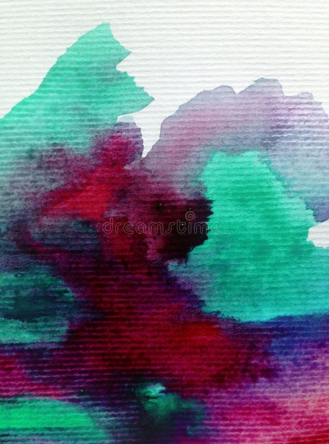Van de waterverfkunst de abstracte hemel als achtergrond cloudstextured natte was vage kleurstof stock illustratie