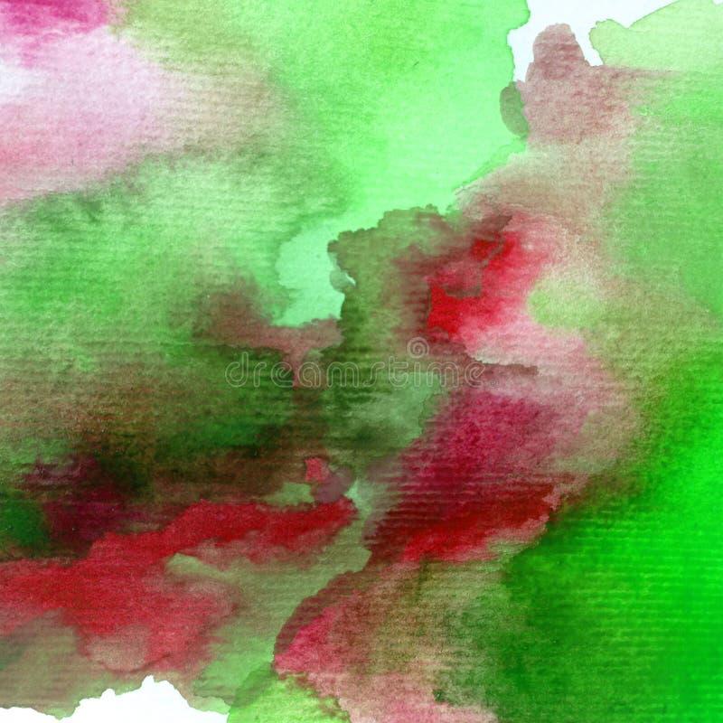 Van de waterverfkunst de abstracte natte was vage lente als achtergrond royalty-vrije illustratie