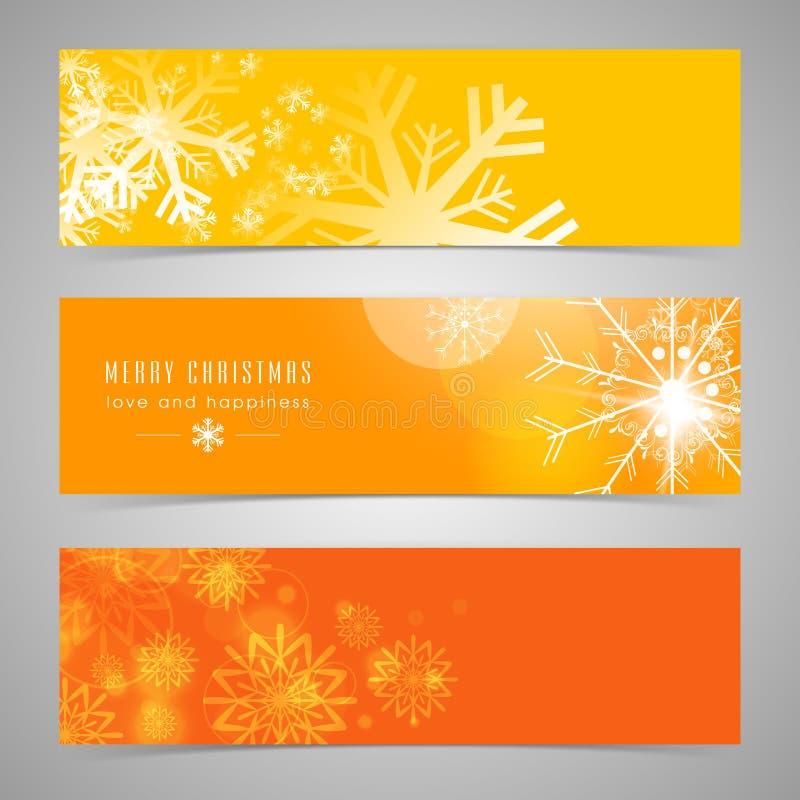 Van de Webkopbal of banner ontwerp voor Vrolijke Kerstmisviering stock illustratie