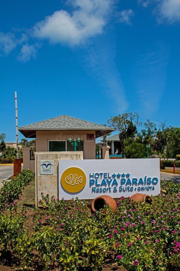 Van de Weg bij de Toevlucht van Playa Paraiso in Cayo Coco, Cuba royalty-vrije stock foto's