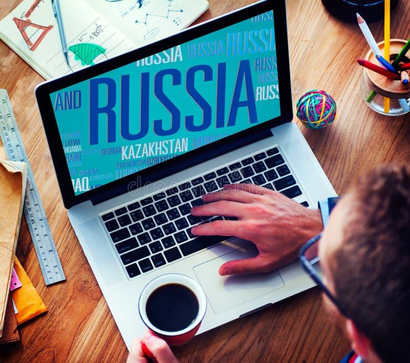 Van de Wereld Internationale Landen van Rusland de Globale Globalisering Concep stock foto's