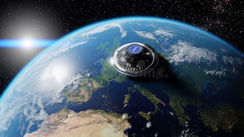 Van de de Wetsprivacy van DSGVO Europa de Gegevensbescherming GDPR royalty-vrije stock afbeelding