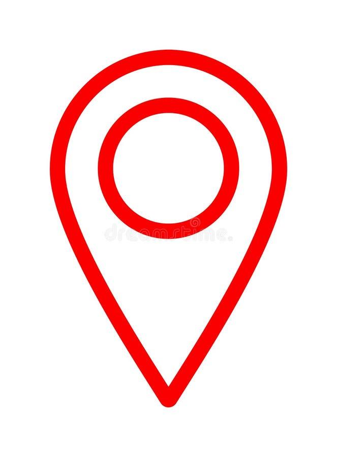 Van de de wijzernavigatie van de kaartspeld de plaatspictogram vector illustratie