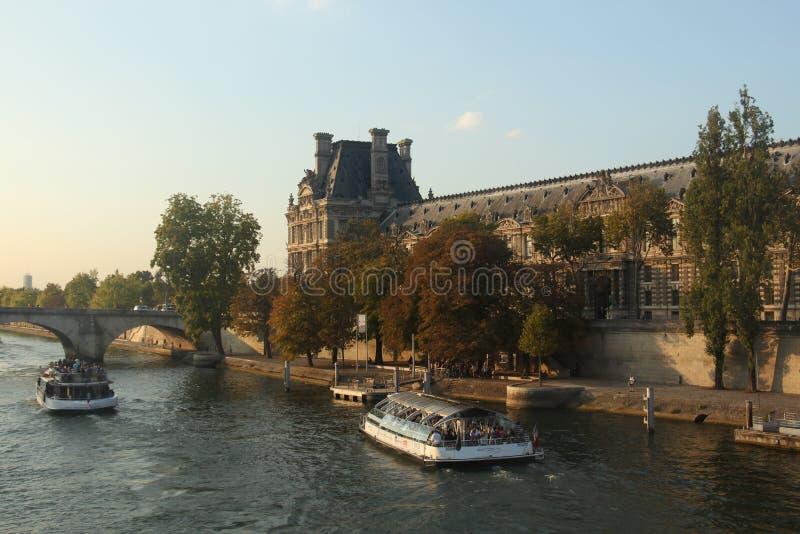 Van de zegenfrankrijk van La van Parijs van het stadslandschap de brugrivier stock fotografie