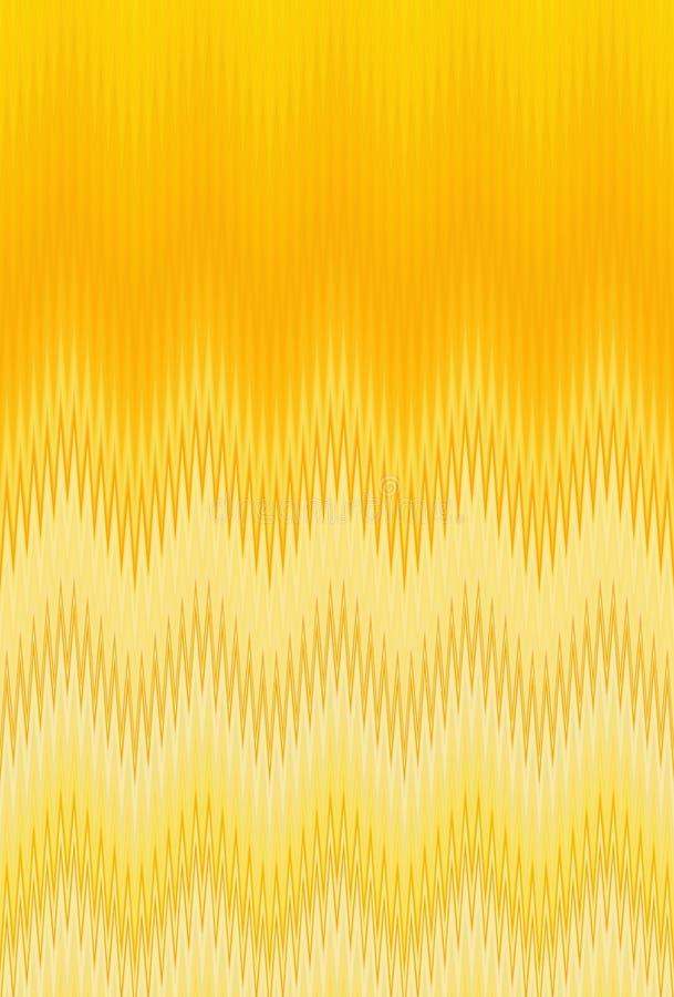Van de de zigzaggolf van het chevron gouden metaal gouden van de het patroon abstracte kunst tendensen als achtergrond royalty-vrije illustratie