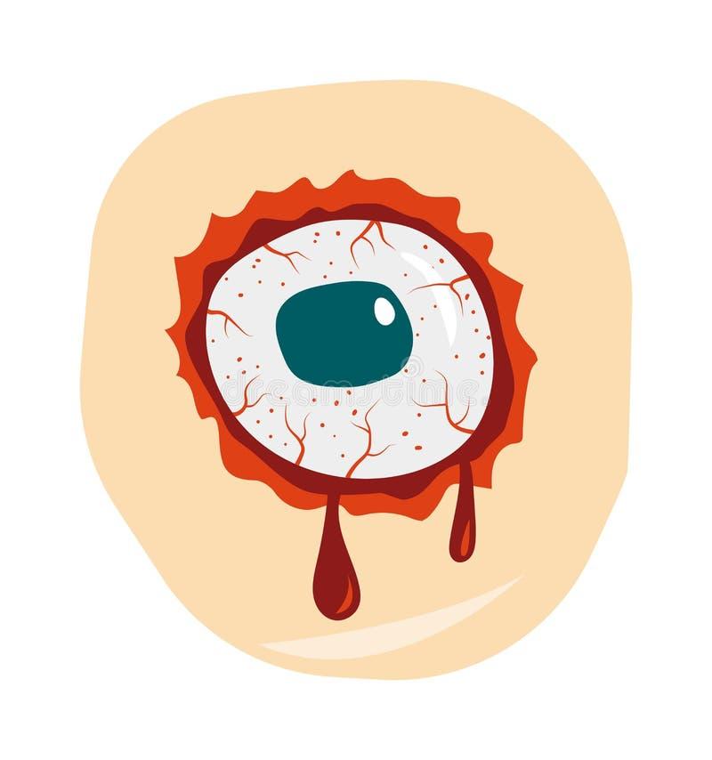 Van de zombieogen van de beeldverhaalkrabbel van het het demonbloed de vectorillustratie vector illustratie