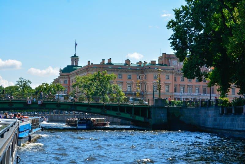 Van de de Zomertijd van Rusland, St. Petersburg de toneelmening stock foto