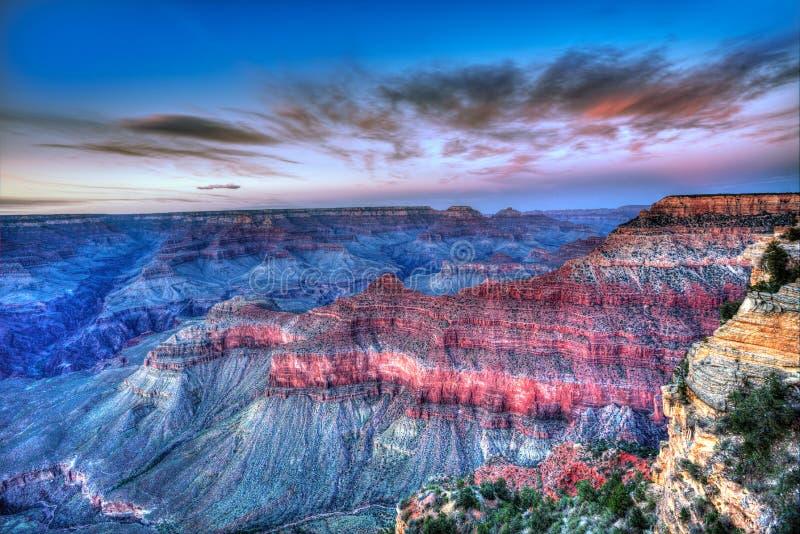 Van de zonsonderganggrand canyon van Arizona van de het Parkmoeder het Nationale Punt de V.S. royalty-vrije stock fotografie