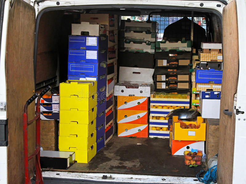 Van delivery stock photography