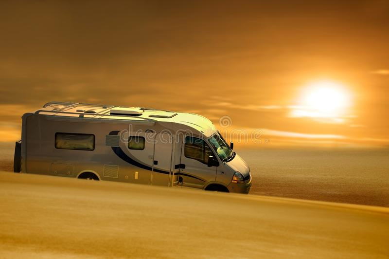 Download Van In Desert Royalty Free Stock Photos - Image: 11331558