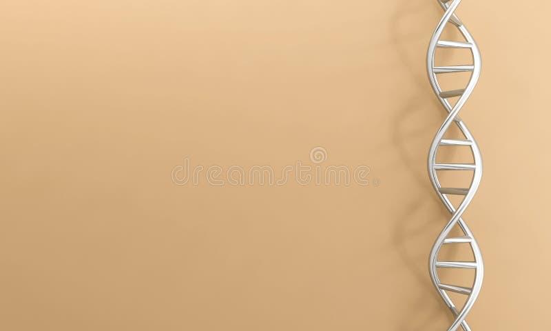 Van DNA genetisch chroom als achtergrond stock illustratie