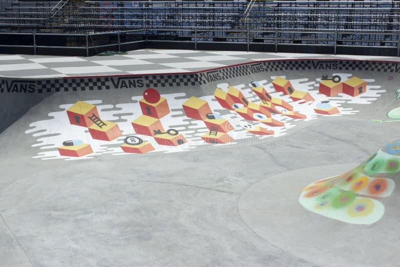 Van Doren Invitational Competition Bowl all'US OPEN di PRATICARE IL SURFING fotografia stock