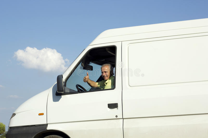 Van Driver fotos de archivo
