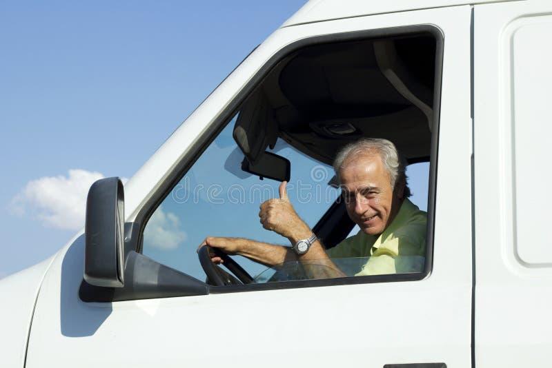 Van Driver foto de archivo libre de regalías