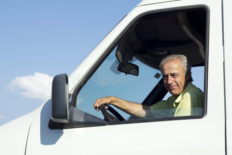 Van Driver. Portrait of van driver looking at camera royalty free stock images