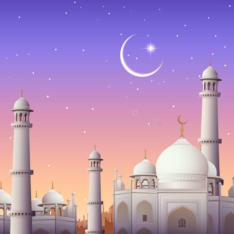 Van Eid Mubarak (Gelukkige Eid) de achtergrond vector illustratie