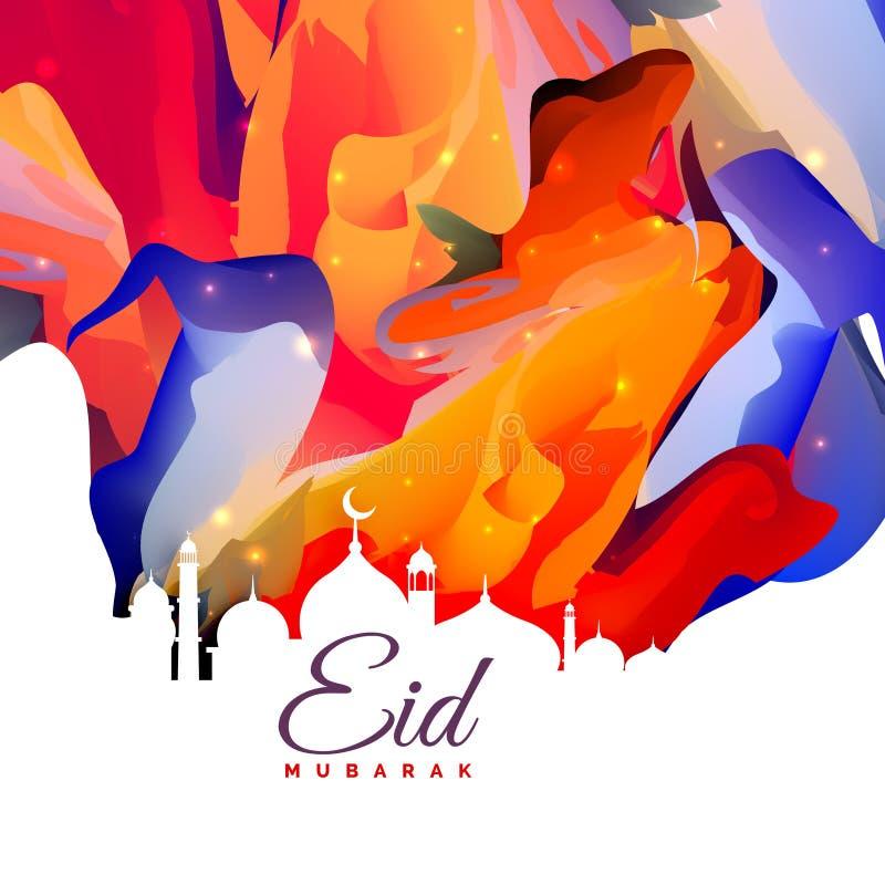 Van Eidmubarak creatief abstract ontwerp als achtergrond vector illustratie