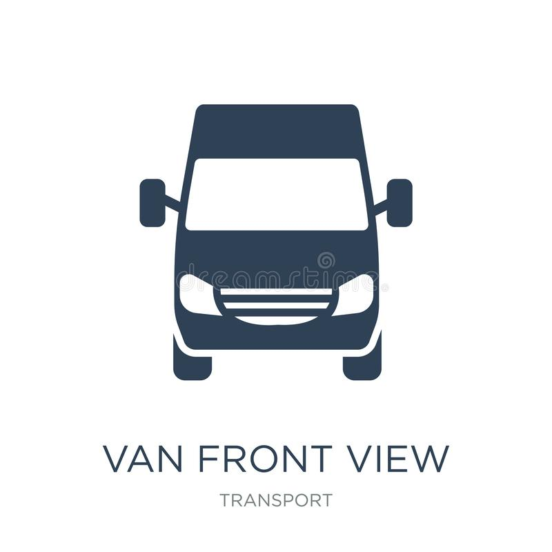 van front view icon in trendy design style. van front view icon isolated on white background. van front view vector icon simple vector illustration
