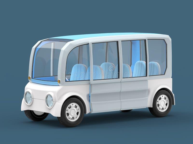 Van futuristic concept. Futuristic van concept on blue background. 3d illustration stock illustration