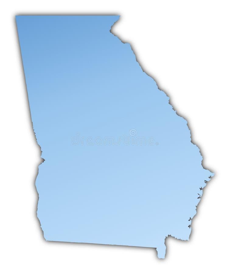 Van Georgië (de V.S.) de kaart stock illustratie
