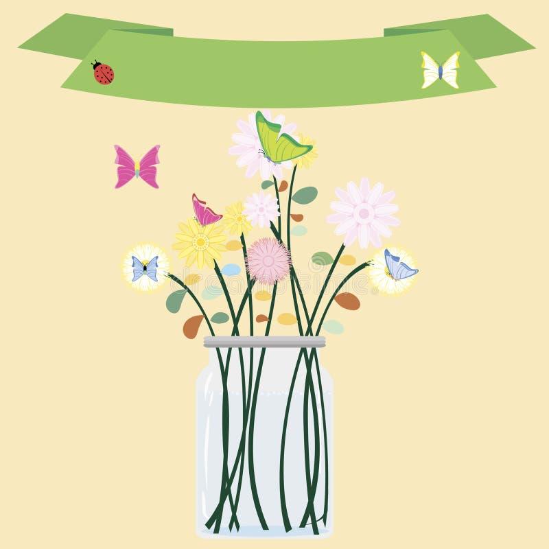 Download Van Glaskruiken En Bloemen Vector Vector Illustratie - Illustratie bestaande uit bloesem, bloemen: 114225907