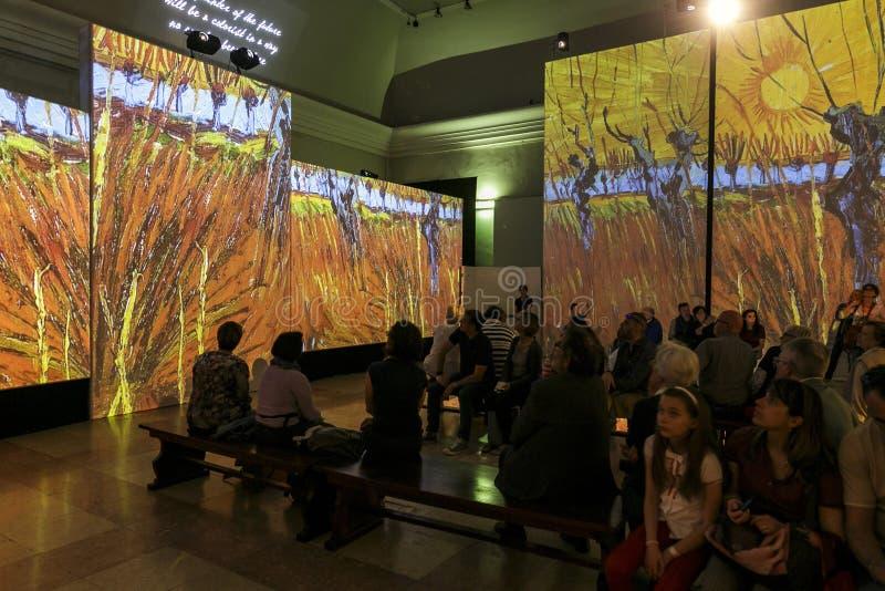 Van Gogh Alive. Torino - Van Gogh Alive visual experience royalty free stock photography