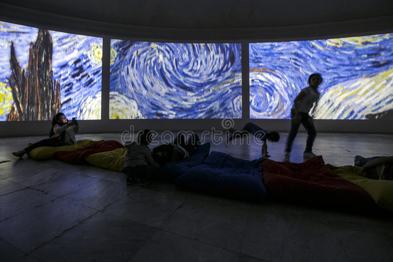 Van Gogh Alive. Torino - Van Gogh Alive visual experience royalty free stock image