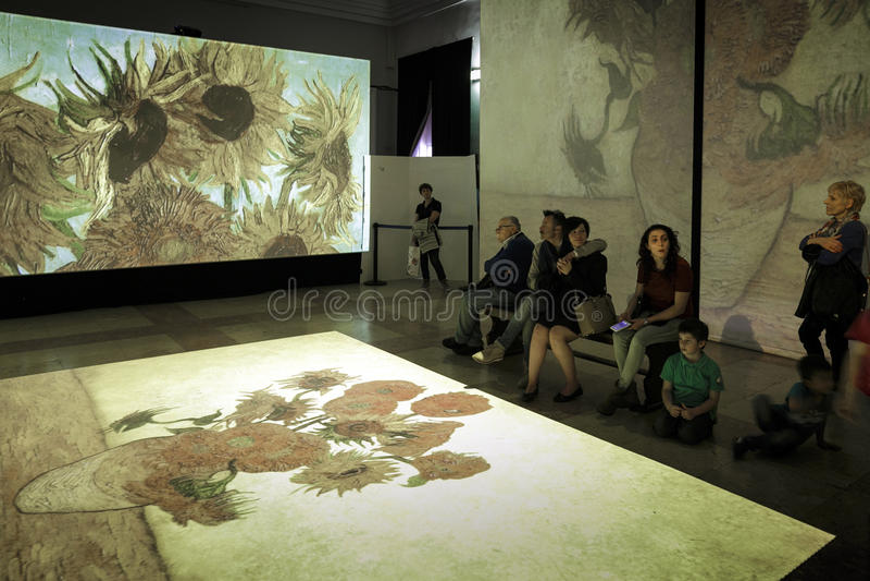 Van Gogh Alive. Torino - Van Gogh Alive visual experience royalty free stock images