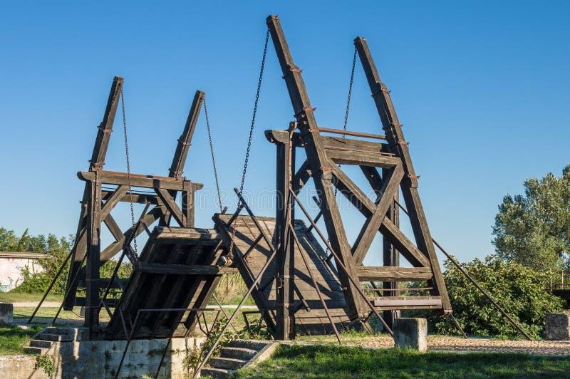 Van Gogh drawbridge. Through canal near Arles, France royalty free stock images