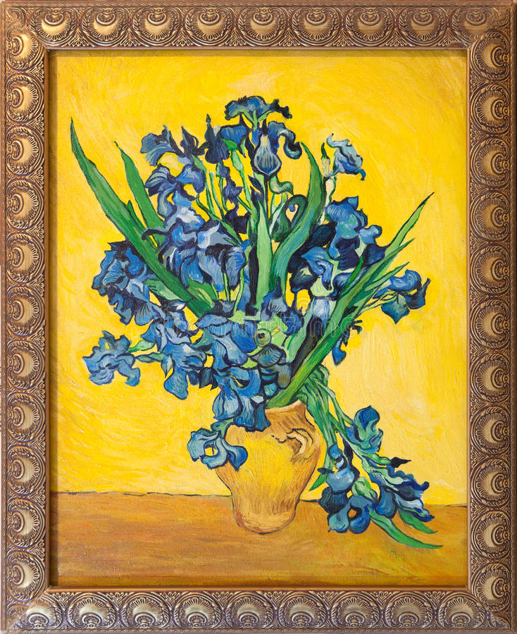 Van Gogh irise la peinture illustration stock