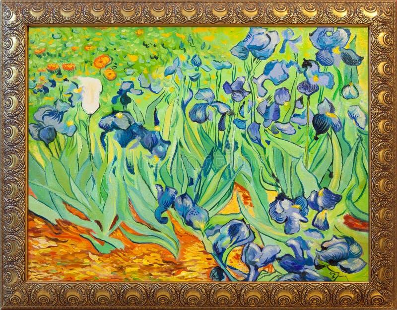 Van Gogh Irises het Schilderen royalty-vrije stock foto's