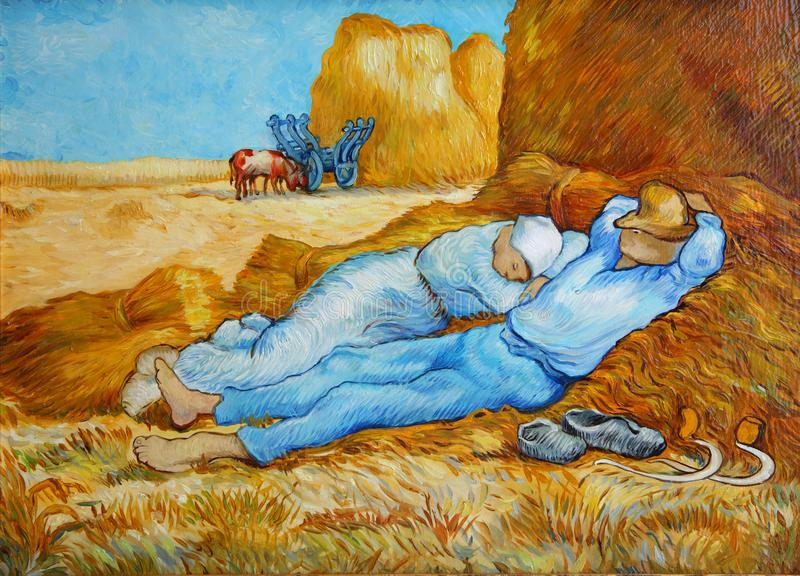 Van Gogh After Millet Painting foto de stock