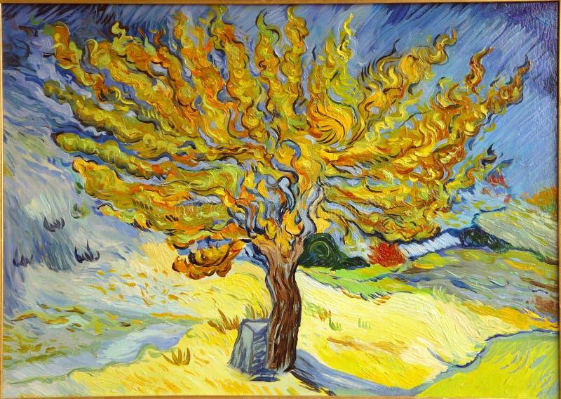 Van Gogh Mulberry Tree Painting imagens de stock