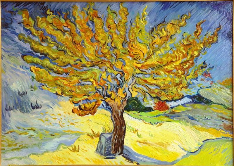 Van Gogh Mulberry Tree Painting stock images