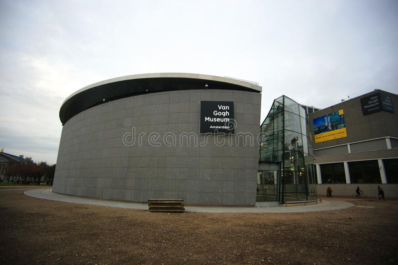 Van Gogh Museum. The Van Gogh Museum is an art museum in Amsterdam in the Netherlands dedicated to the works of Vincent van Gogh and his contemporaries. It is royalty free stock photography