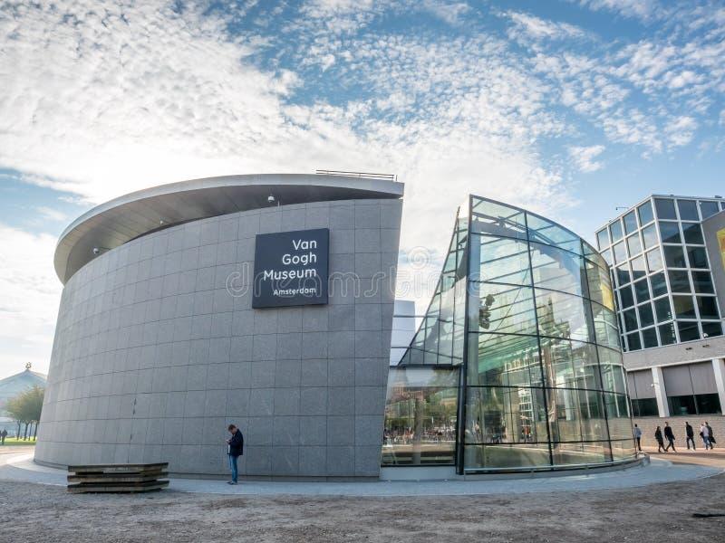 Van Gogh museum building. AMSTERDAM - OCTOBER 3: Van Gogh museum building outstanding with design architectured in Amsterdam, Netherlands, on October 3, 2015 stock images